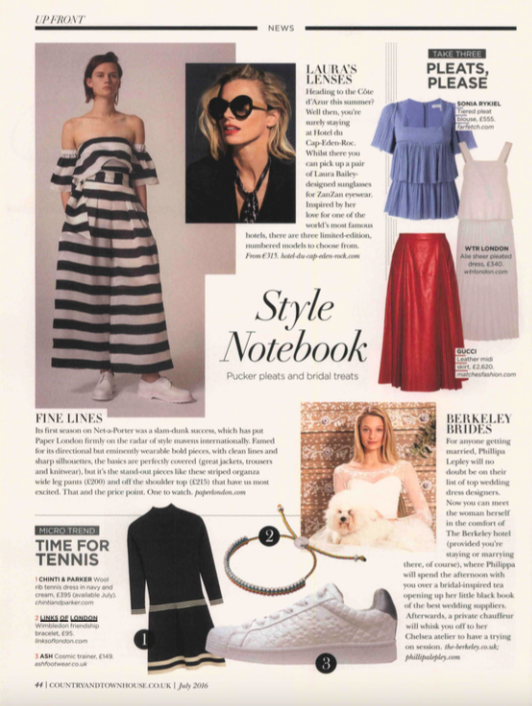 News Story, PAPER London coverage courtesy of Country & Townhouse Magazine
