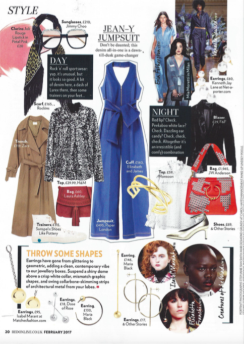 PAPER London's R17 Soleil Denim Jumpsuit is featured in Red Magazine