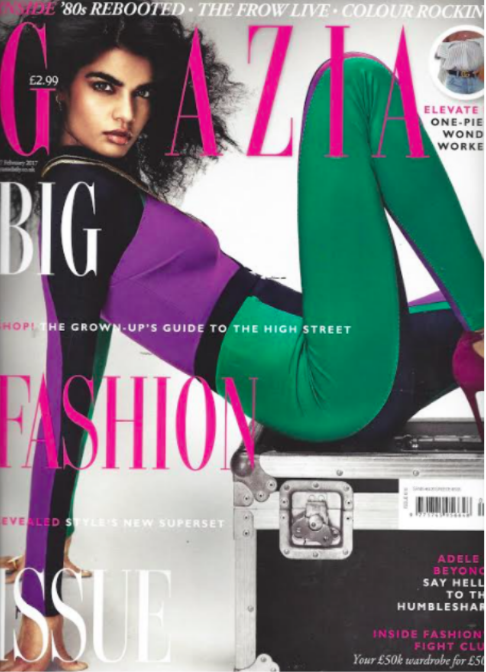 PAPER London's R17 Bow Playsuit is featured in Grazia Magazine