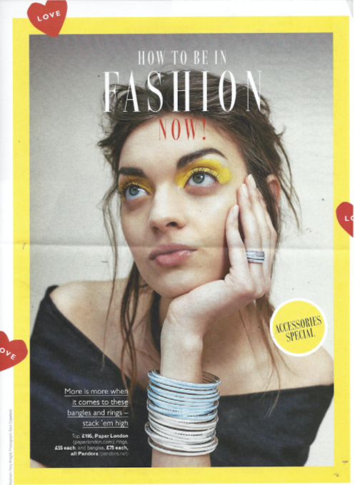 PAPER London's R17 Zero Top is featured in Grazia Magazine