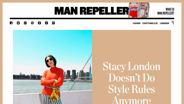 SS17 Kelly trousers is featured in the interview of 'Stacy London doesn't do style rules anymore' on MAN REPELLER