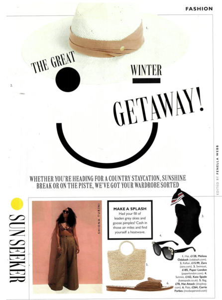 GRAZIA Magazine features PLAGE by PAPER London Azur Wave Swimsuit