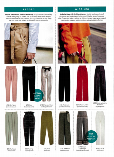 RESORT 18 TWIN TROUSERS are featured in STYLIST MAGAZINE