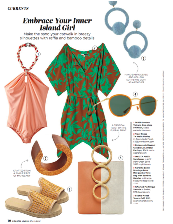 PAPER London's Palm Swimsuit is featured in Coastal Living
