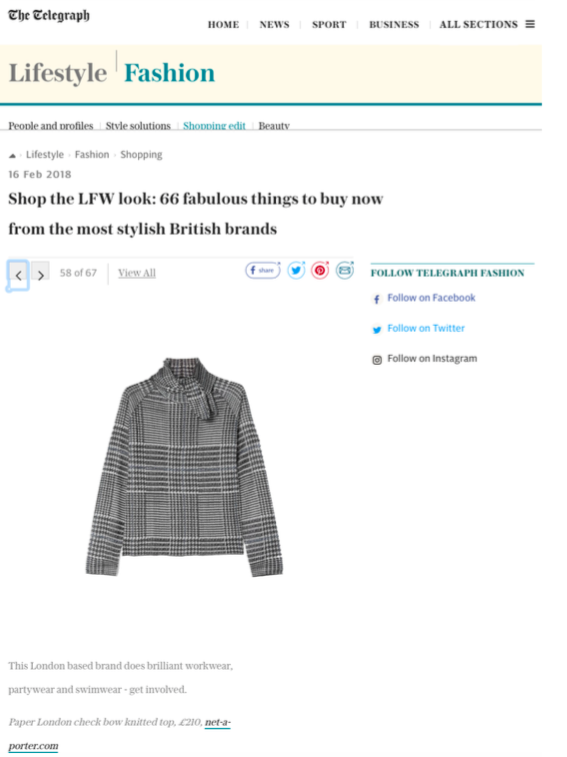 RESORT 18's PRINCE JUMPER is featured by the Telegraph Online