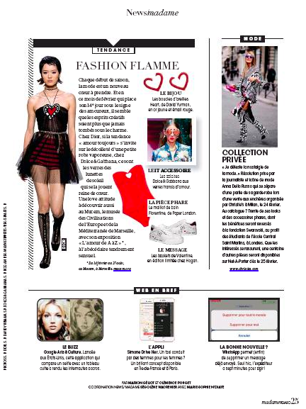 PAPER London's FLORENTINE SWIMSUIT is featured in MME FIGARO