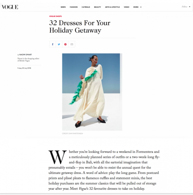 HS18's POLKA DOT SISI DRESS IS FEATURED ON VOGUE.COM