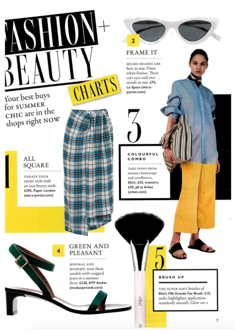 PF18's SIVEN SKIRT is featured #1 in the FASHION CHARTS in GRAZIA MAGAZINE