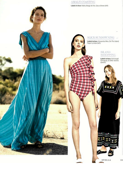 HS18's COCONUT SWIMSUIT is featured in STELLA MAGAZINE