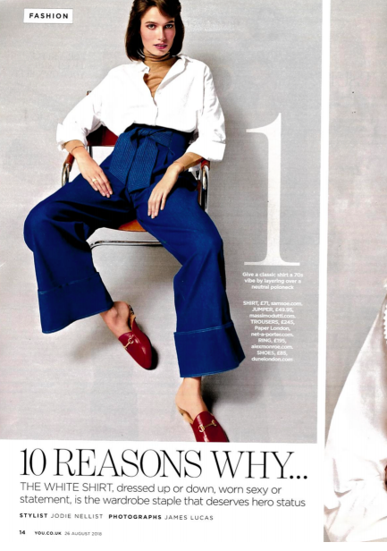 YOU MAGAZINE features AW18s TWIN JEANS