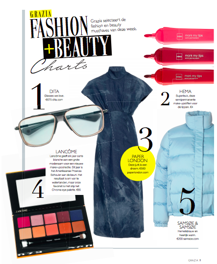GRAZIA NETHERLANDS FEATURES THE DUTCH DRESS IN MARBLE DENIM