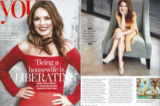 GERI HALLIWELL is featured in YOU magazine wearing the SS16 orange knitted Mila T-Shirt!