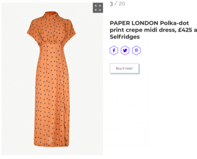 MARIE CLAIRE FEATURES PF19's DOT DRESS
