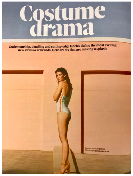 THE OBSERVER MAGAZINE FEATURES THE PALM SWIMSUIT