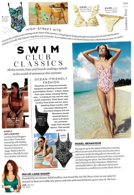 THE COPACABANA SWIMSUIT FEATURES IN MARIE CLAIRE'S SWIM CLUB CLASSICS FEATURE