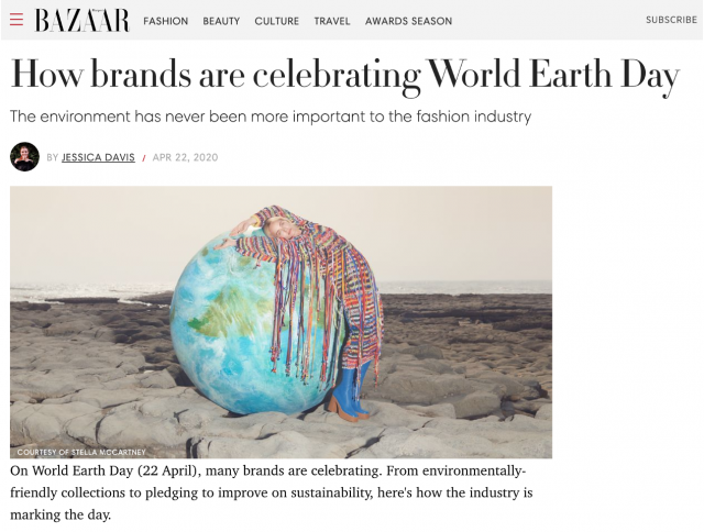 PAPER FEATURED IN HARPER'S BAZAAR'S HOW BRANDS ARE CELEBRATING WORLD'S EARTH DAY
