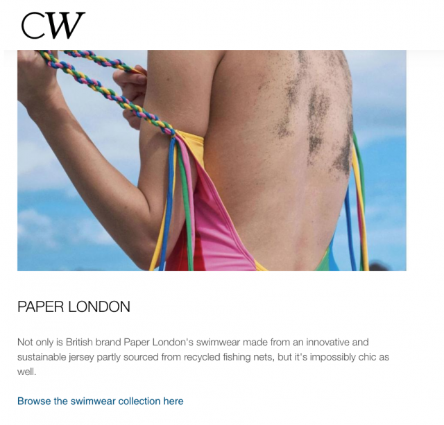 PAPER FEATURED IN CULTURE WHISPER'S 'BEST SUSTAINABLE SWIMWEAR BRANDS'