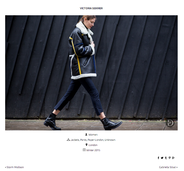 Spotted by the Urbanspotter: Stylist Victoria Sekrier in PAPER London's PRISM COAT during LFW
