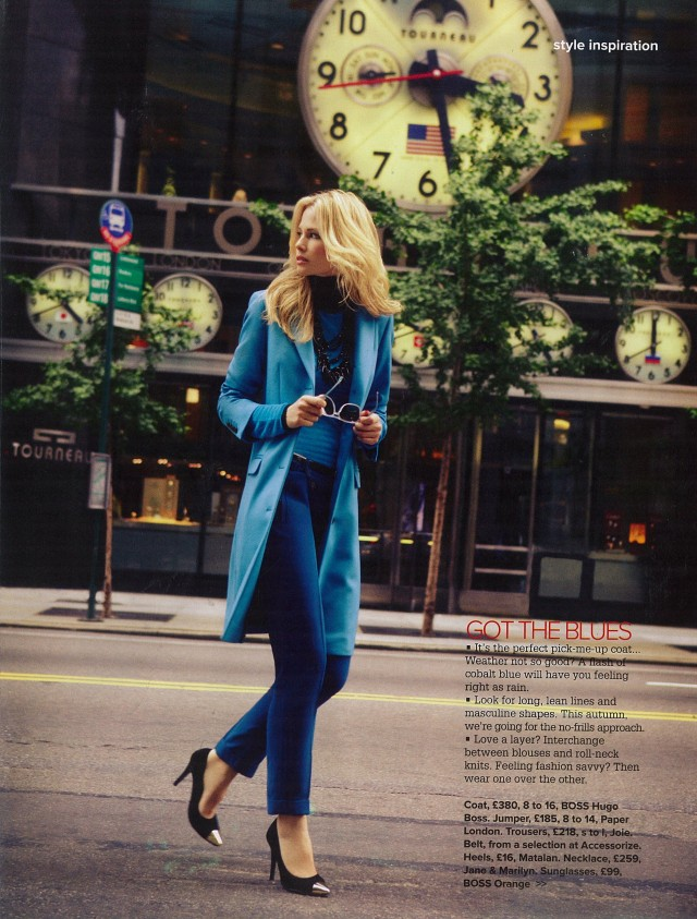 Cigarette Trousers in turquoise azure in Woman and Home