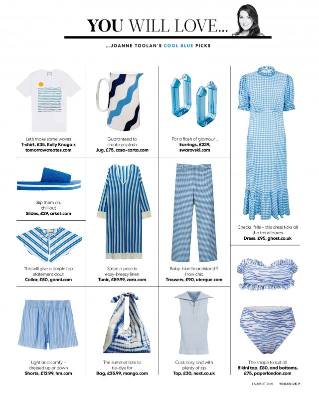 PAPER Featured in YOU Magazine : 'Joanne Toolan's Cool Blue Picks'