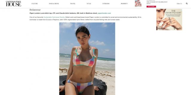 PAPER Featured in Country & Townhouse : 'WHAT TO PACK FOR YOUR BRITISH BEACH HOLIDAY' By Amy Wakeham