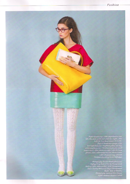 PAPER's SS14 Sandstone Top featured in City AM's Bespoke Magazine