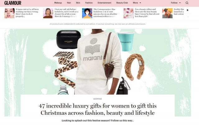 PAPER featured in GLAMOUR MAGAZINE – 47 incredible luxury gifts for women to gift this Christmas across fashion, beauty and lifestyle