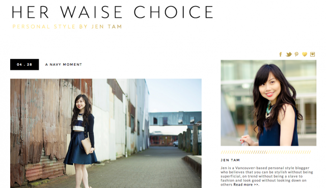 Blogger Jen Tam and Her Waise Choice features PAPER London's SS14 Texas Skirt