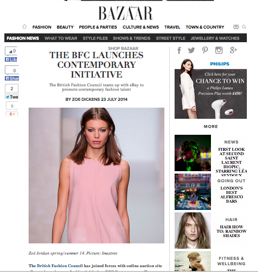 HarpersBazaar features BFC Contemporary Initiative