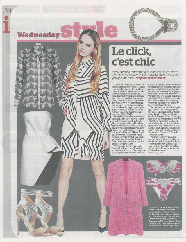 The Setai Dress is featured in the i newspaper
