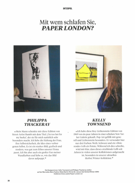 PAPER London is featured in Monopol Magazine