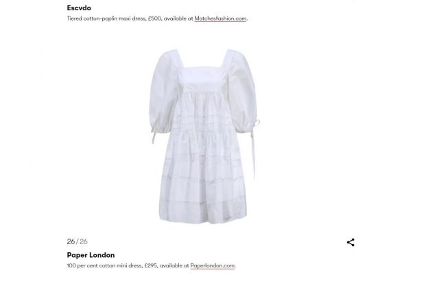 PAPER Featured in VOGUE Britain : 'Channel Your Inner Kate At A Picnic In A Breezy Boho Dress' by Alice Cary