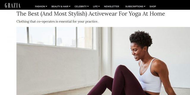 GRAZIA'S Guide to The Best (And Most Stylish) Activewear For Yoga At Home features PAPER'S Megamix Bodysuit