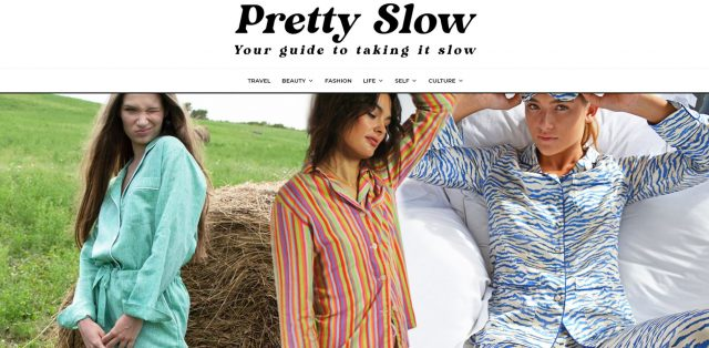 PAPER Florence Pyjamas in Abracazebra featured in Pretty Slow's Guide to The best ethical and sustainable pyjamas and nightwear to buy now