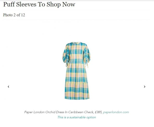 PAPER Featured in Country & Townhouse : 'PUFF SLEEVES ARE (STILL) TRENDING' by Rebecca Cox
