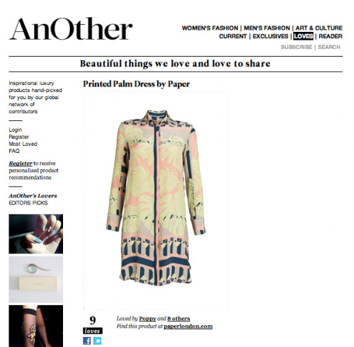 Printed Palm Dress – Anothermag.com