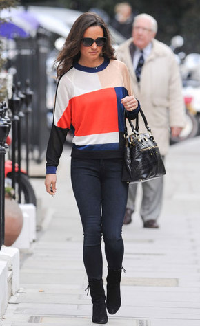 Pippa Middleton is spotted wearing the PAPER London Modrian Jumper