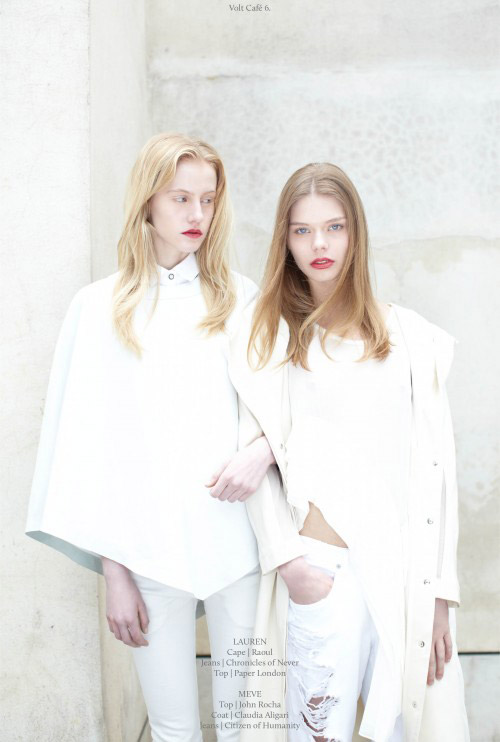 Bib Shirt in white cotton is featured in VOLT Magazine – May 2012