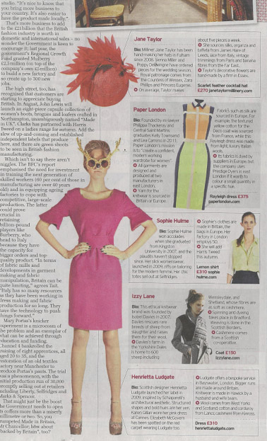 SS12 Rayleigh Dress – Daily Telegraph