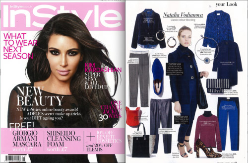 AW12 Morrisey Jumper featured in InStyle – August 2012