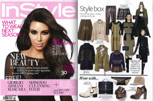 AW12 Piped Raglan Shirt featured in InStyle – August 2012