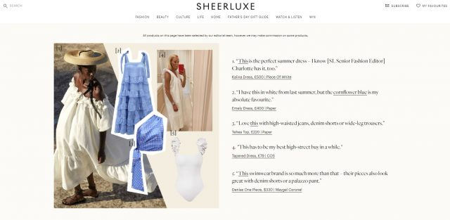 PAPER Featured in SHEERLUXE 'What SL's Founder & Editor Is Loving Right Now'