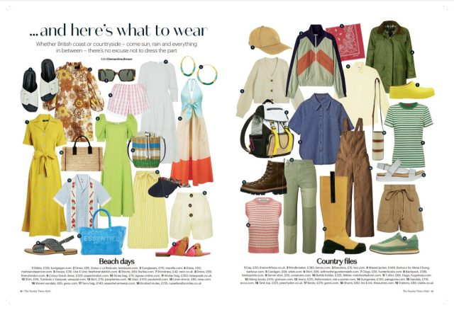 PAPER Featured in The Sunday Times '… and here's what to wear' By Clementine Brown