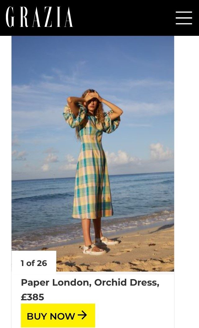 PAPER Featured in GRAZIA : 'The Best Spring Dresses That You Can Start Wearing Now, Even In This Dull Weather' by Hannah Banks-Walker