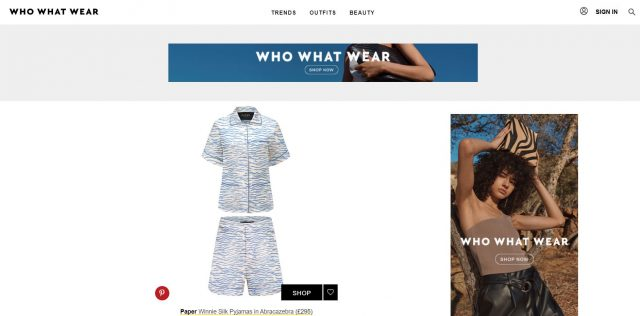 PAPER Featured in WHO WHAT WEAR : 'This Pyjama Trend Will Make You Feel Super Fancy' by Maxine Eggenberger
