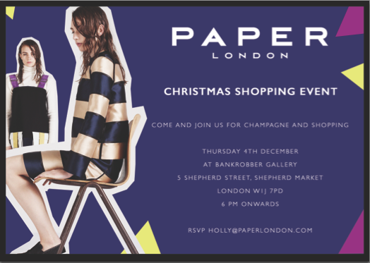 Join us for Christmas Drinks and Shopping on Thursday 4th December!